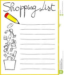 shopping lis